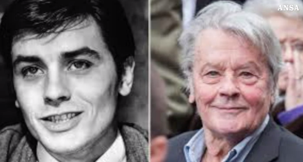 alain delon in lacrime
