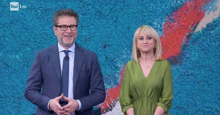 Fabio Fazio e Luciana Littizzetto in una puntata di Che tempo che fa