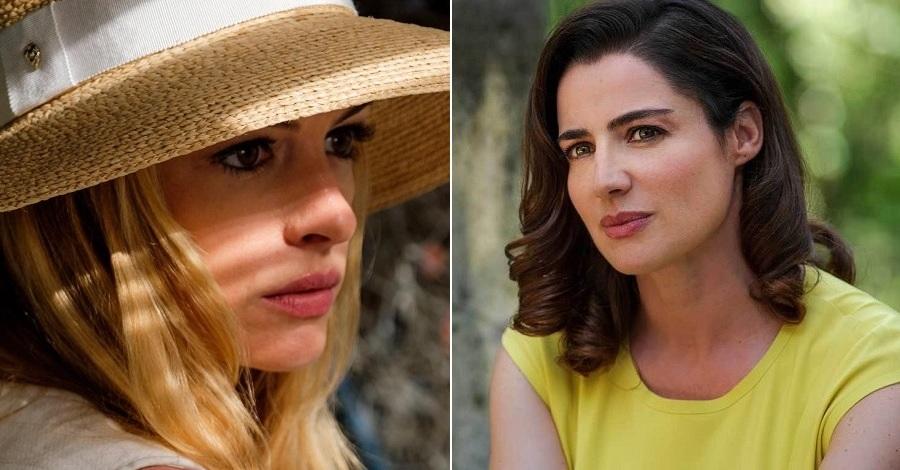 Due primi piani di Anne Hathaway e Luisa Ranieri