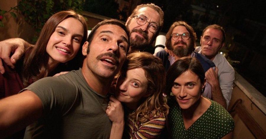 Il selfie del cast di Perfetti sconosciuti