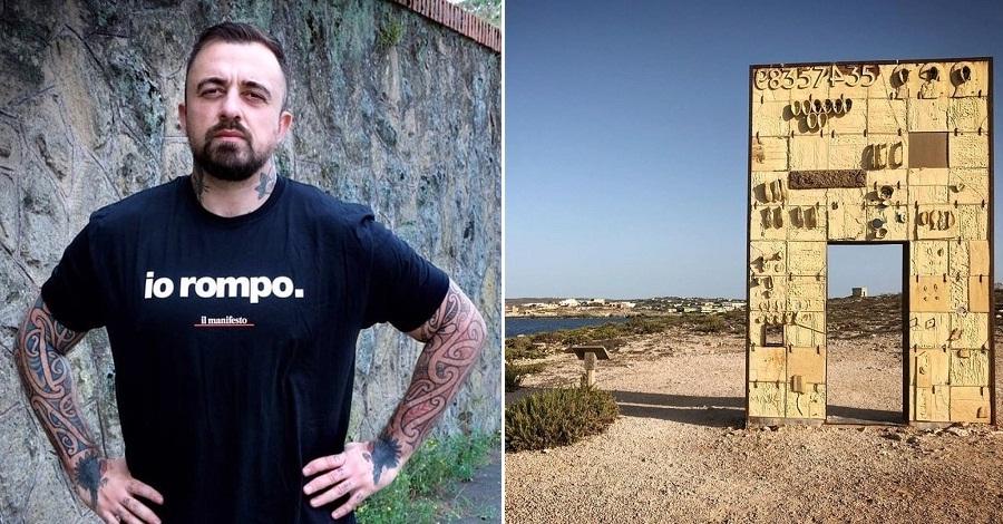 Una foto di Chef Rubio e un panorama di Lampedusa