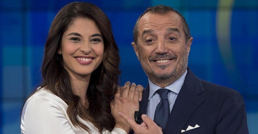 Un primo piano di Benedetta Rinaldi e Franco Di Mare