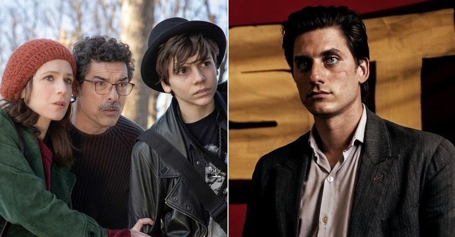 Due immagini da Mio fratello rincorre i dinosauri e Martin Eden, due dei sette film al cinema dal 5 settembre