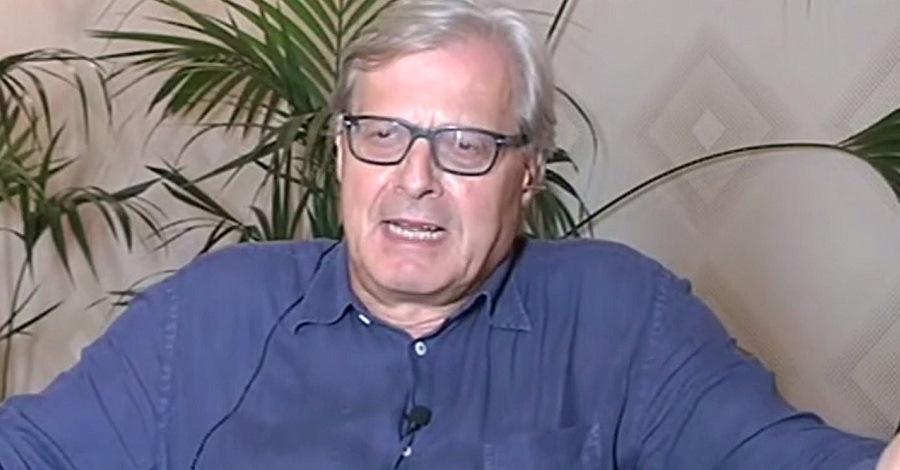 Un'immagine di Vittorio Sgarbi a Stasera Italia