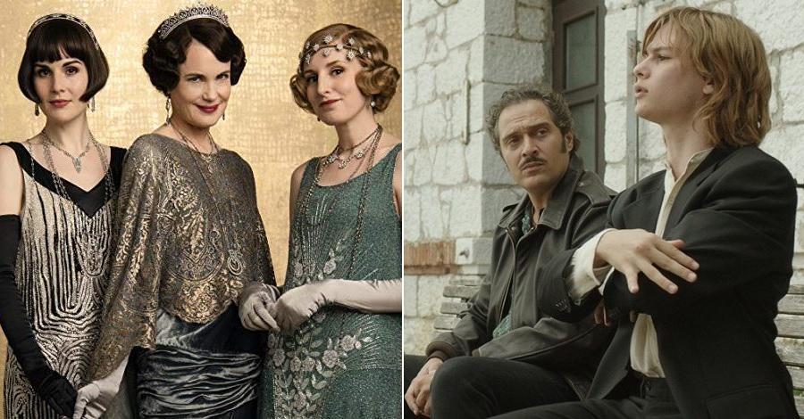 Due scene dei film Downton Abbey e Tutto il mio folle amore