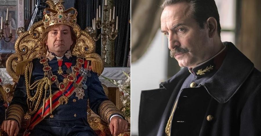 Antonio Albanese nel film Cetto c'è, senzadubbiamente e Jean Dujardin nel film L'ufficiale e la spia