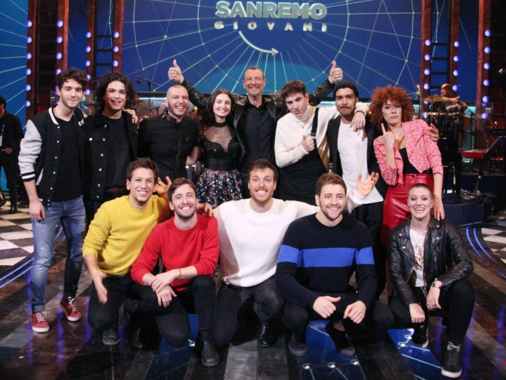 I vincitori di Sanremo Giovani con Amadeus
