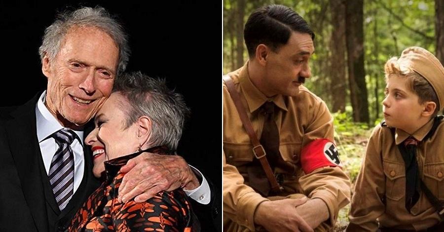 Clint Eastwood e Kathy Bates e una scena di Jojo Rabbit