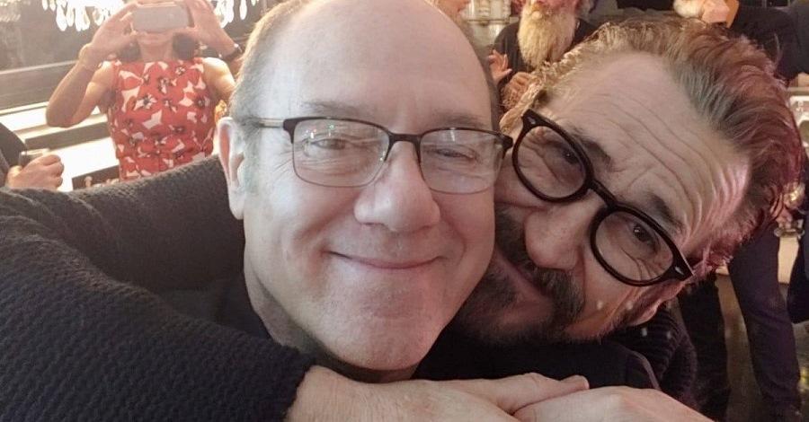 Un selfie di Carlo Verdone e Marco Giallini