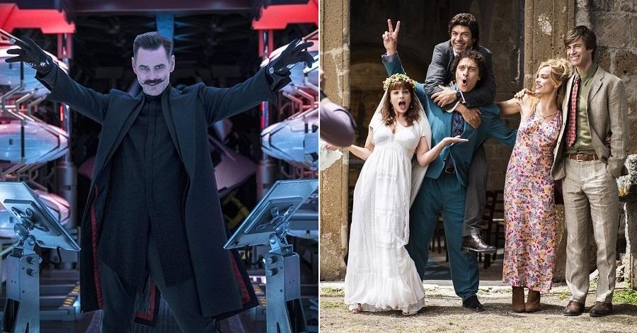 Jim Carrey in Sonic e il cast de Gli anni più belli, due degli otto film al cinema dal 13 febbraio