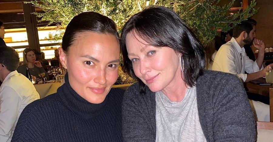 Anne Marie Kortright e Shannen Doherty al ristorante