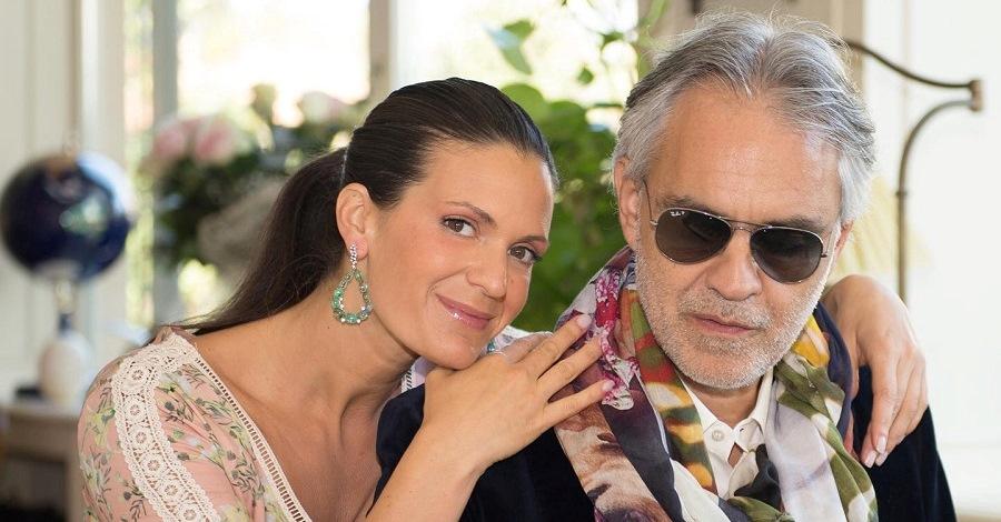 Andrea Bocelli con la moglie Veronica Berti