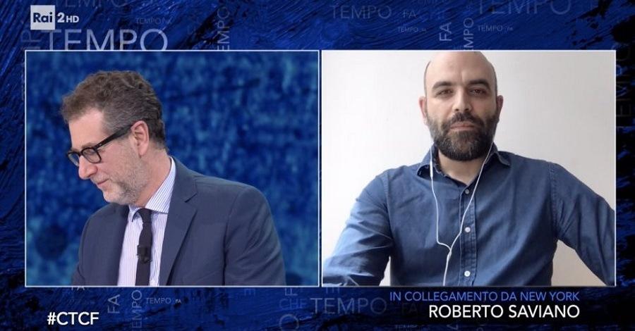 Fabio Fazio e Roberto Saviano a Che tempo che fa