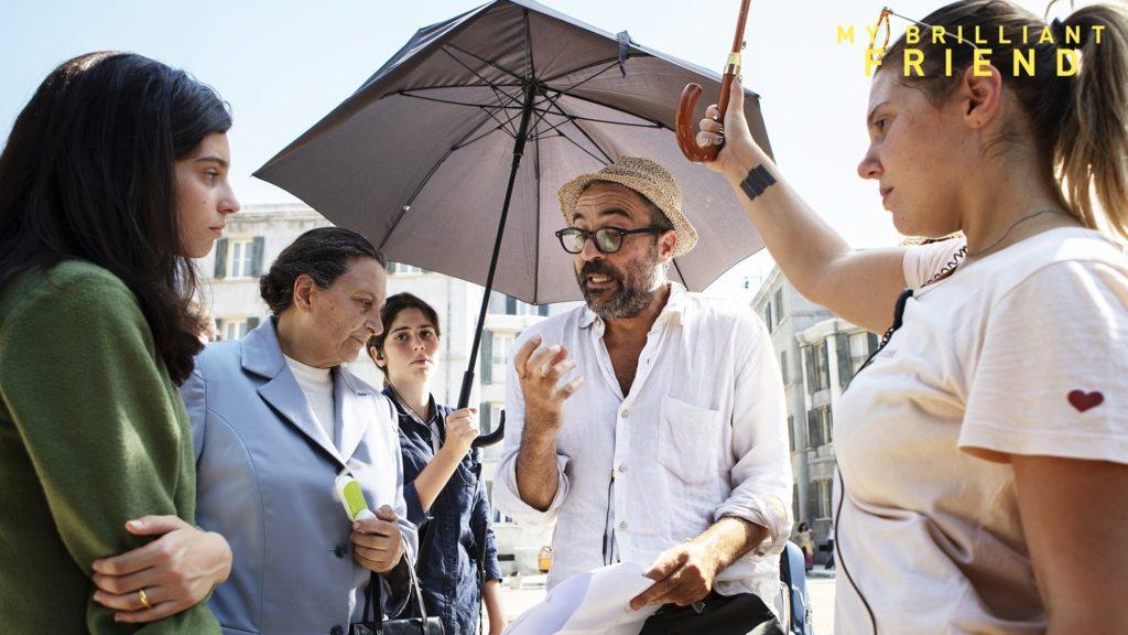 Saverio Costanzo sul set della serie L'amica geniale
