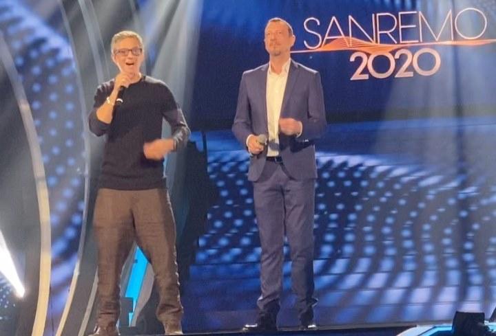 Fiorello e Amadeus a Sanremo 2020