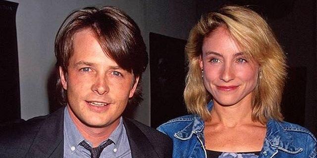 Un primo piano di Michael J. Fox e sua moglie Tracy Pollan