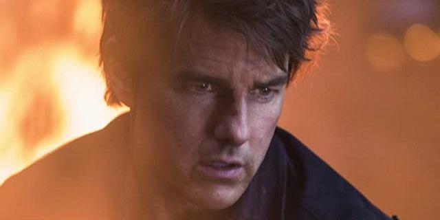 Un primo piano di Tom Cruise in una scena del film La mummia