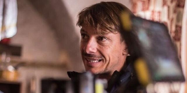 Giorgio Pasotti sul set del suo ritorno al cinema, Abbi fede