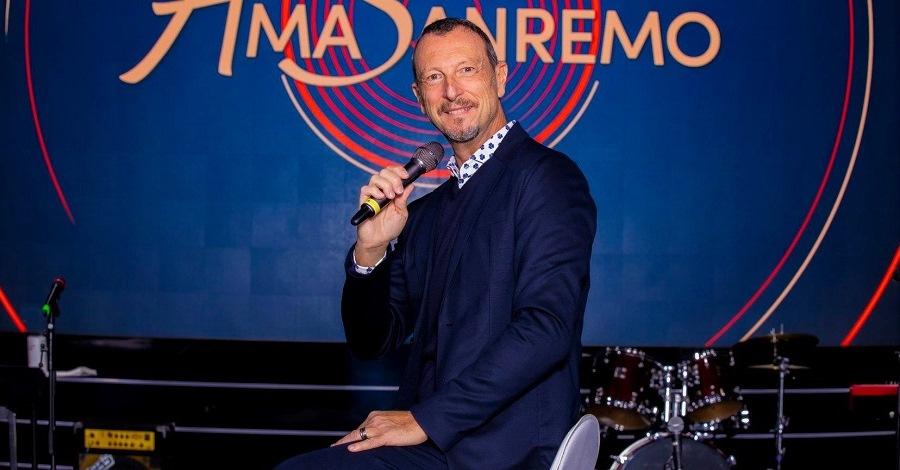 Amadeus presenta i cantanti Big partecipanti a Sanremo 2021