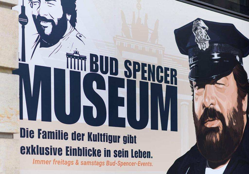 La pubblicità del Bud Spencer Museum di Berlino