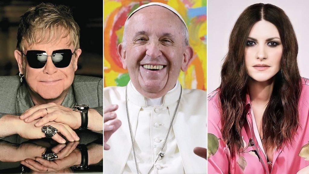 Elton John, Papa Francesco e Laura Pausini
