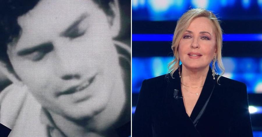 Barbara Palombelli durante il monologo su Luigi Tenco a Sanremo 2021