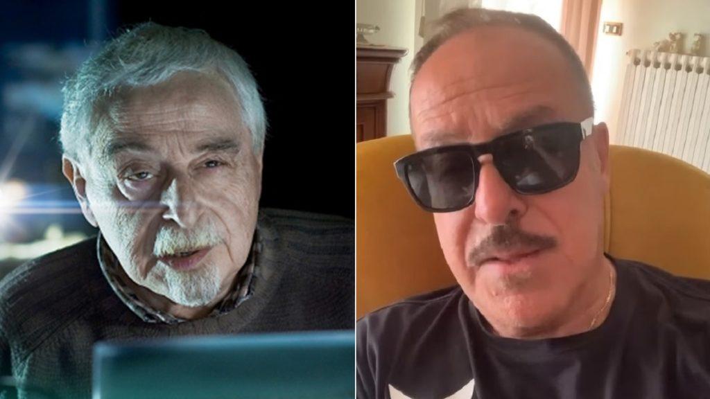 Primi piani di Giorgio Lopez e il fratello Massimo