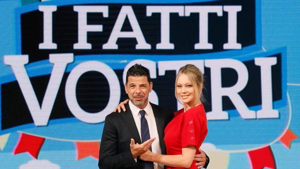 Salvo Sottile e Anna Falchi a I fatti vostri