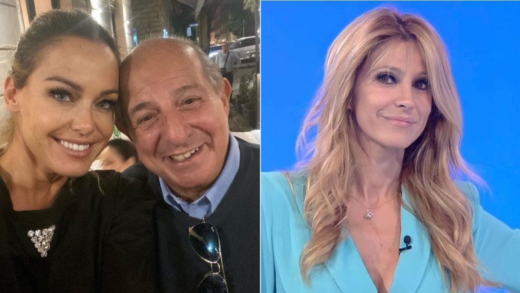 Primi piani di Sonia Bruganelli e Magalli e Adriana Volpe